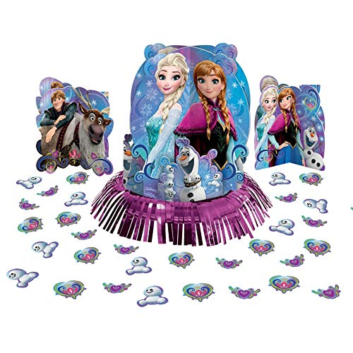 amscan Magic Table Decorating Kit   Disney Frozen Collection   Party Accessory, Multicolor