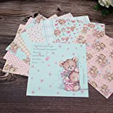 """TTBH Love Butterfly One-Sided Pattern Paper Origami Art Background Paper Card Making DIY Scrapbook Paper Crafts 6""""X6"""