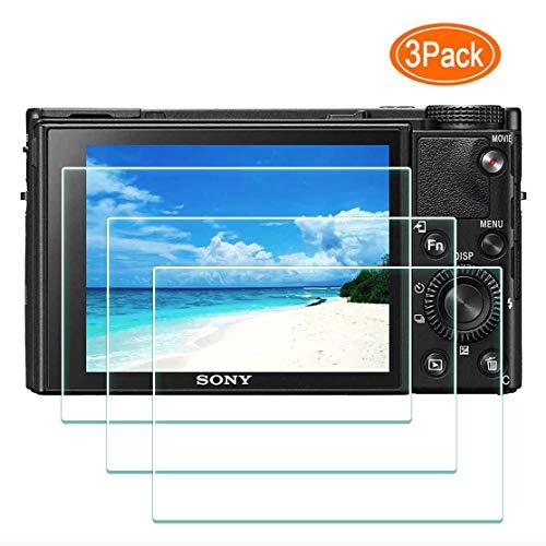DSC-RX100M7 Displayschutzfolie für Sony RX100 VII Digitalkamera, 0,3 mm Härtegrad 9H, gehärtetes Glas, Kratzfest, Anti-Fingerabdruck, blasenfrei, wasserabweisend, staubabweisend, 3 Stück, RX100M7
