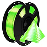 Shiny Silk Bright Lime Green PLA 3D Printing Material, 1kg 2.2lbs 1.75mm 3D Plastic Material, Widely...