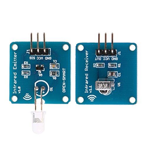 YOURPAI Émetteur récepteur NE555 infrarouge + récepteur infr