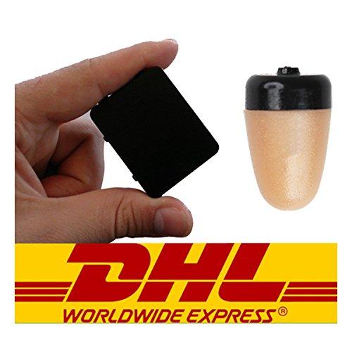 Spy Earpiece GSM Box Handy Wireless Headset versteckt unsichtbar Ohrhörer Set (Black Box)