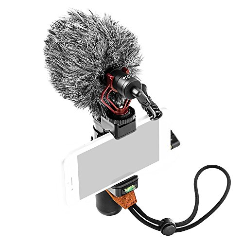 New BOYA Camera Super-Cardioid Video Shotgun Condenser Microphone by-MM1+ with Headphone Monitoring for Camera Camcorder Android iPhone Mac PC Live Stream Recording