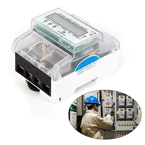 3-Phasen-4-Draht Messgerät LCD Drehstromzähler Geeicht für DIN Hutschiene