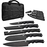 DFACKTO - 11 Piece Premium Rugged Knife Set with Sheaths and Case for Kitchen and Camping,...
