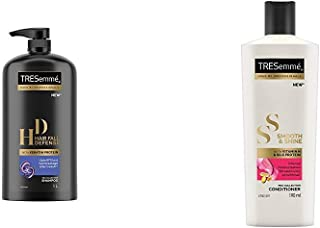 TRESemme Hair Fall Defence Shampoo, 1L & TRESemme Smooth and Shine Conditioner, 190ml