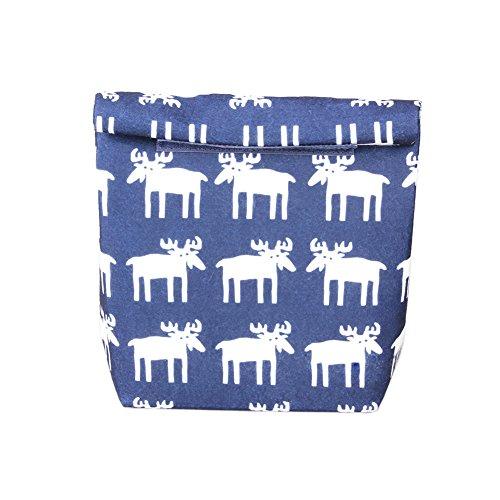 Yvonnelee Lunch-Tasche, Kühltasche Thermotasche isolierte Lunch Cooler Tasche Lunchbag Isoliertasche mit Klettverschluss-Grau (Navy blau)
