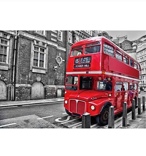 Legpuzzels Voor Kinderen 1000 Stukjes, Londen Rode Bus