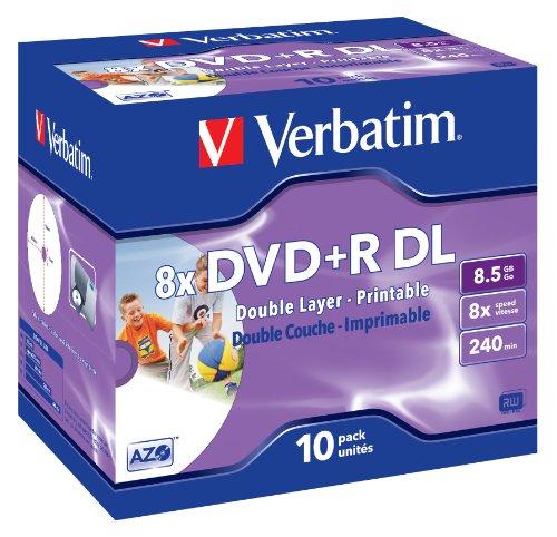 Verbatim Dvd+r 8.5GB Printable - Confezione da 10