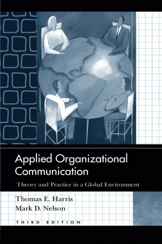 Applied Organizational Communication: Theory and Practice...