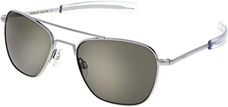 Randolph Matte Chrome Classic Aviator Sunglasses for Men or Women 100% UV