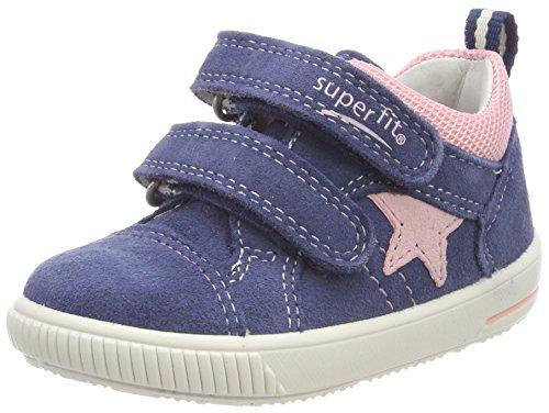 Superfit Baby-Mädchen Moppy Sneaker, Blau (Water Multi), 21 EU