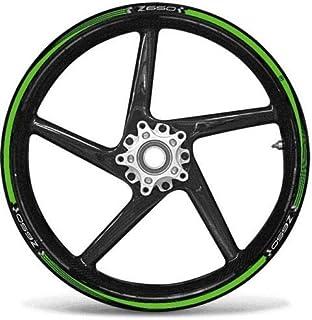 Matte Oro Ruote Moto Cerchione Decalcomanie Accessorio Adesivi per Kawasaki ER6N