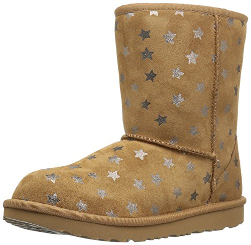 UGG Australia Unisex-Kinder Classic Short II Stars Halblange Stiefel, Chestnut, 27 EU