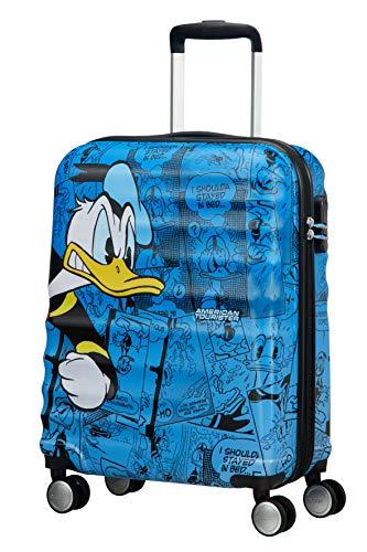 American Tourister Wavebreaker Bagaglio a Mano Disney, Spinner S (55 cm - 36 L), Blu (Donald Duck)