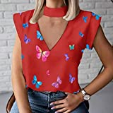DYXYH Mujer Blusa Camisa Verano Casual Soporte Soporte Pullover Elegante Mujeres Tops Damas Blusa de Moda Manga Corta (Color : A, Size : S Code)
