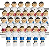 Brybelly Old-Style Foosball Men with Hardware (Set of 26), Red and...