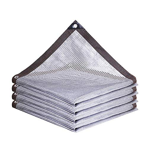 GAOAIHONG Aluminet Shade Cloth 55% Sonnenschutz-Plane UV-beständig Net for Garten Innenhof Rasen Gewächshaus (Color : Silver, Size : 1x1m)