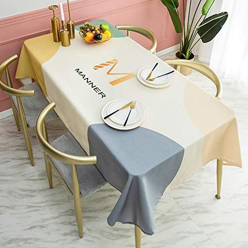 Rechthoekig tafelkleed, waterdicht tafelkleed - Oliebestendig en vlekbestendig rechthoekig tafelkleed, veeg schoon tafelkleed voor keukentafel,b,140 * 260cm
