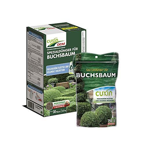 Cuxin Bio langzeit Buchsbaumdünger für 12-120 Pflanzen⎜mit vitalisierenden Algenkalk (750g)