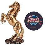 Diyeeni - Figura de caballo de resina trenzada con el significado del éxito, escultura...