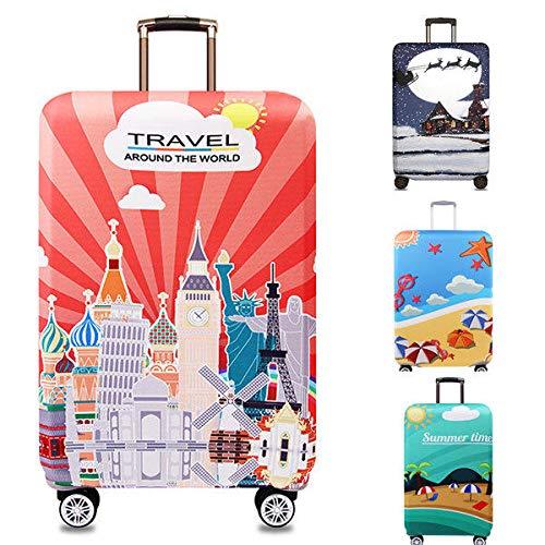 Honana Tourism Theme - Funda elástica para maleta, funda para maletas, funda de 45 a 32 cm, accesorios de viaje