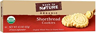 Back to Nature Cookies, Organic Shortbread, 4.5 Ounce