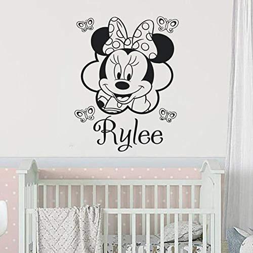 Tianpengyuanshuai muurtattoos gepersonaliseerde aangepaste namen vinyl sticker kinderen meisje slaapkamer baby kamer muis decoratie