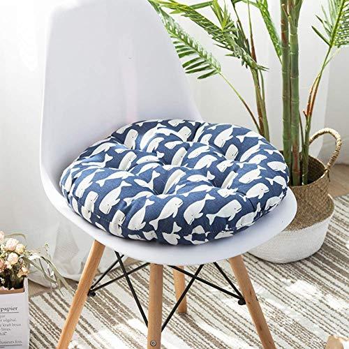 XHNXHN Tatami - Cojín redondo para silla suave, nalgas japonesas de poliéster con estampado de nalgas, acolchado acolchado para silla de oficina, paquete de 2 B-50x50 cm