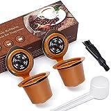 Letilio 2Pcs Cápsulas Filtros de Café Recargable Reutilizable para Nespresso