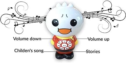 لعبة Food Superman Smart Educational Story Teller Toy للأطفال بشكل لطيف، إضاءة ناعمة، أصوات ذات جودة، تتضمن 54 أغنية صينية/إنجليزية/ لغرف الأطفال قافية لولابي، قصص وقت النوم
