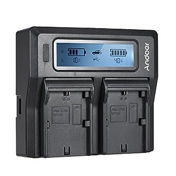 同時に2つの電池を充電することができ、非常に効率的です! LP-E6取り外し可能なバッテリープレート、Canon EOS 5DII 5DIII 5DS 5DSR 6D 7DII 60D 80D 70Dカメラバッテリーに適します。 (電池は別売です) 幅広い電圧互換性があり、あらゆる容量の8.4 / 12.6 / 16.8Vリチウムイオン電池を充電できます。 高/低電流充電モードを選択できます。 CC / CV充電モードとAC / DC / USBポートがあります。 LCDディスプレイにバッテリー...