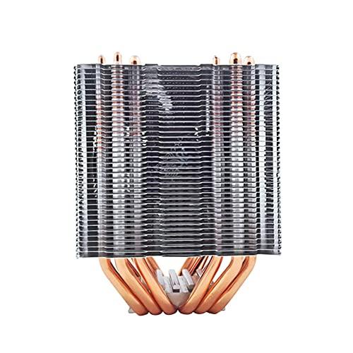 DHYED Ventilador de la caja de la computadora,Enfriadores de CPU,6 calor de la oficina de enfriamiento de la CPU ventilador de 4 pines PWM silencioso radiador