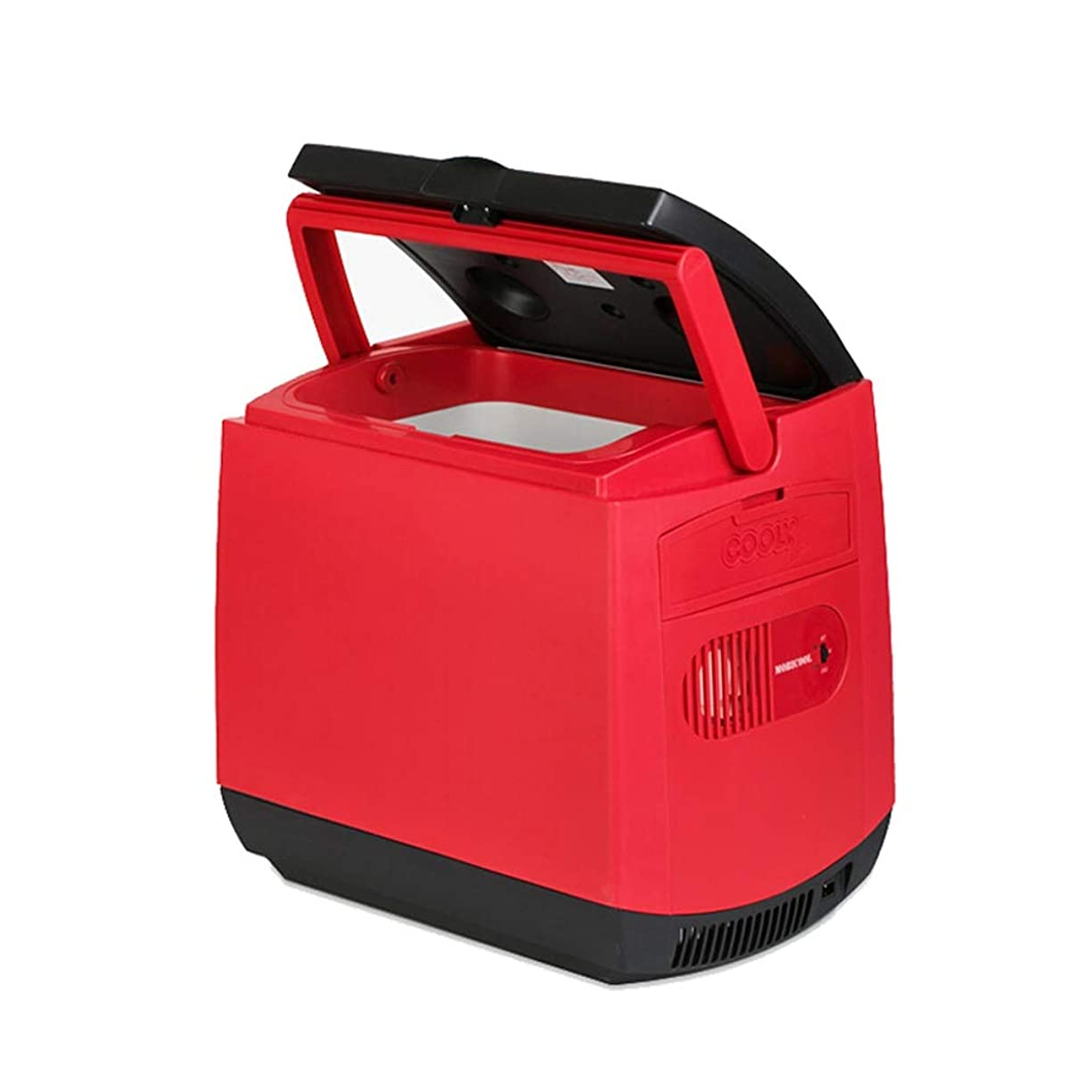 守る社会科つば車の冷蔵庫 - 25L車の家2人のユーザーが暖房の外で暖房しています12V / 220Vポータブル小型冷蔵庫(プラス8アイスバッグ)