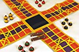 A traditional Indian game with a reference played in the epic MAHABHARATA. This is a 'Race Game' where in two to four players race their respective pawns to reach the inner most square using stick dice. Develops strategy, planning, thinking. Suitable...