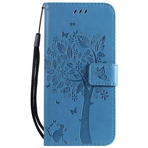 ZIKT021163 - Funda de piel sintética para Huawei P30 Lite/nova 4e (tarjetero, tarjetero), color azul
