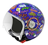 Rodeo Drive RD109G - Casco para scooter infantil, diseño pop art, diseño de splash, talla S
