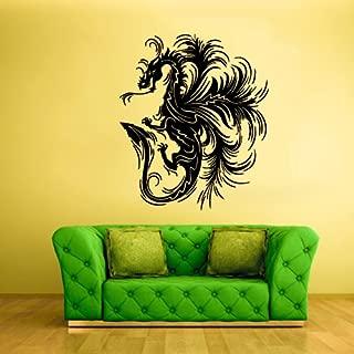 Wall Decor Vinyl Sticker Room Decal Art Beautiful Fire Dragon Tribal Tattoo 603