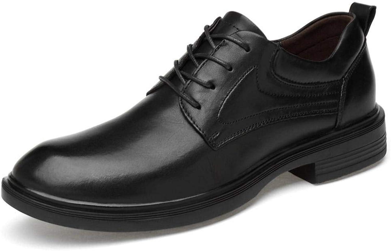 EGS-schuhe Herrenschuhe, Leder Casual Herrenschuhe,Grille Schuhe (Farbe   schwarz Glossy, Größe   41)
