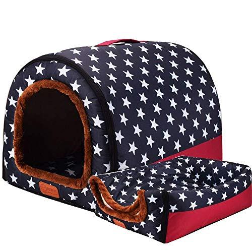 DUCHEN Haustierbett, Großer Hund Hundehütte Winter Warm Hundehöhle Iglu,Waschbar Hundehöhle Katzenhöhle Flauschig Cosy Kratzfest Hundebett