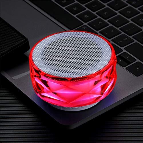 Dkee Bluetooth-Lautsprecher Red Portable 288 LED-Leuchten drahtlose Bluetooth-Lautsprecher Sound-Stereo-Subwoofer-Lautsprechersäulen