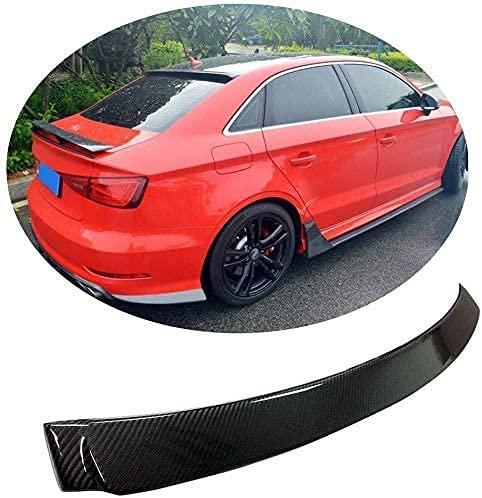 Alerón Trasero de Fibra de Carbon para Audi A3 / S3 Sedan 2014-2020, Ala del Parabrisas del Labio del Maletero Trasero Excelente Car Styling Accesorios