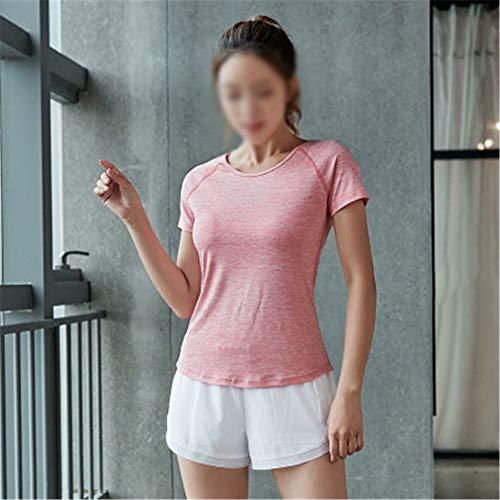 Trajes deportivos para mujer de primavera y verano, ropa de yoga de 2 piezas para mujer de secado rápido para correr casual (color: E, tamaño: L)