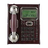 Bindpo Teléfono con Cable Retro, teléfono Fijo Antiguo Europeo Antiguo con número de marcación, múltiples Relojes de Alarma y Control de Volumen para la Escuela del Hotel de Oficina en casa(Rojo)