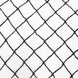Aquagart® Teichnetz 8m x 6m Vogelschutz 20x20 mm Maschenweite I Pool Laubnetz schwarz I Obstbaumnetz feinmaschig I Beet Netz stabil I Silonetz I Fischteichnetz Reiherschutz I Polyethylen Volierennetz