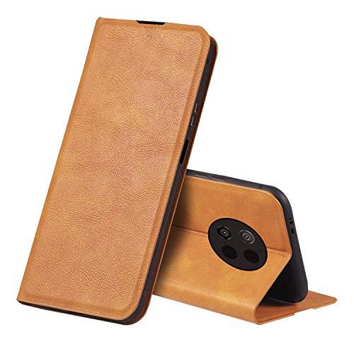 Redmi Note 9T ケース/カバー 手帳型 レザー スタンド機能 カード収納 上質なPUレザーケース シャオミ リドミーノート9T レザーケース おしゃれ アンドロイド スマフォ スマホ スマートフォン ケース/カバー(ブラウン)
