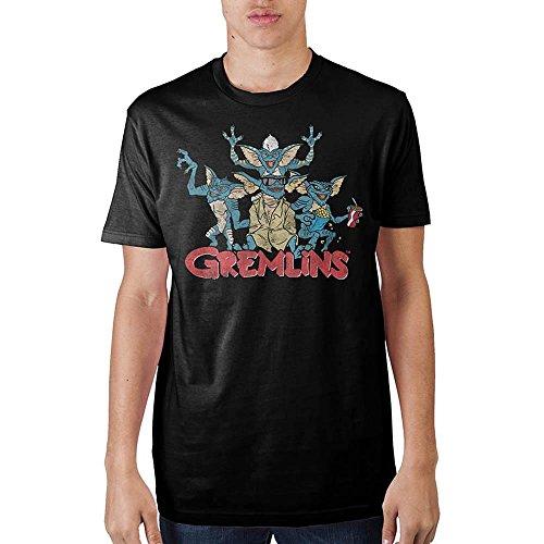 Gremlins Group Black T-Shirt for Men, S to XXL