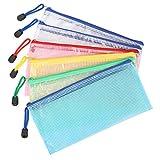 Bolsa de Archivo de cremallera Kasimir B6 Bolsa de documentos de zip 5 colores malla bolsa de archivo bolsas de cremallera impermeable con cremallera bolsa de archivo reforzada para oficinas