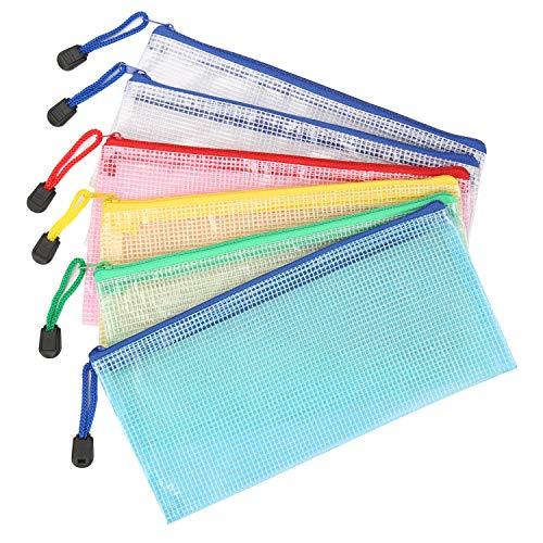 Kasimir Cartelline Plastica 6 Pezzi B6 Sacchetti di File Zipper Sacchetti Cerniera Trasparente Borse di File Impermeabile Mesh Sacchetto del Documento p - 5 Colori