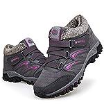 gracosy Women Flat Walking Hiking Ankle Boots, Winter Low Rise Slip On Trekking Footwear Anti-Slip Shoes with Fur Lined… 19